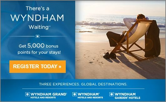 Wyndham Rewards 5000 bonus points promotion