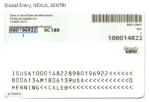 Global Entry renewal PASSID number