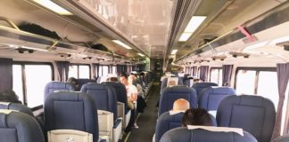 Best Amtrak train routes seating