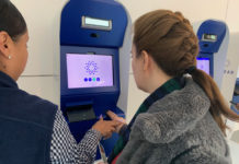 CLEAR kiosks Anna signing in at Los Angeles