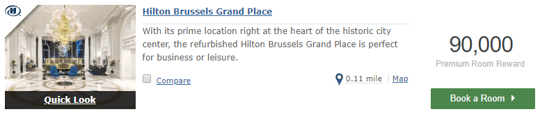 Hilton Brussels Grand Place Oct 25-29 2019