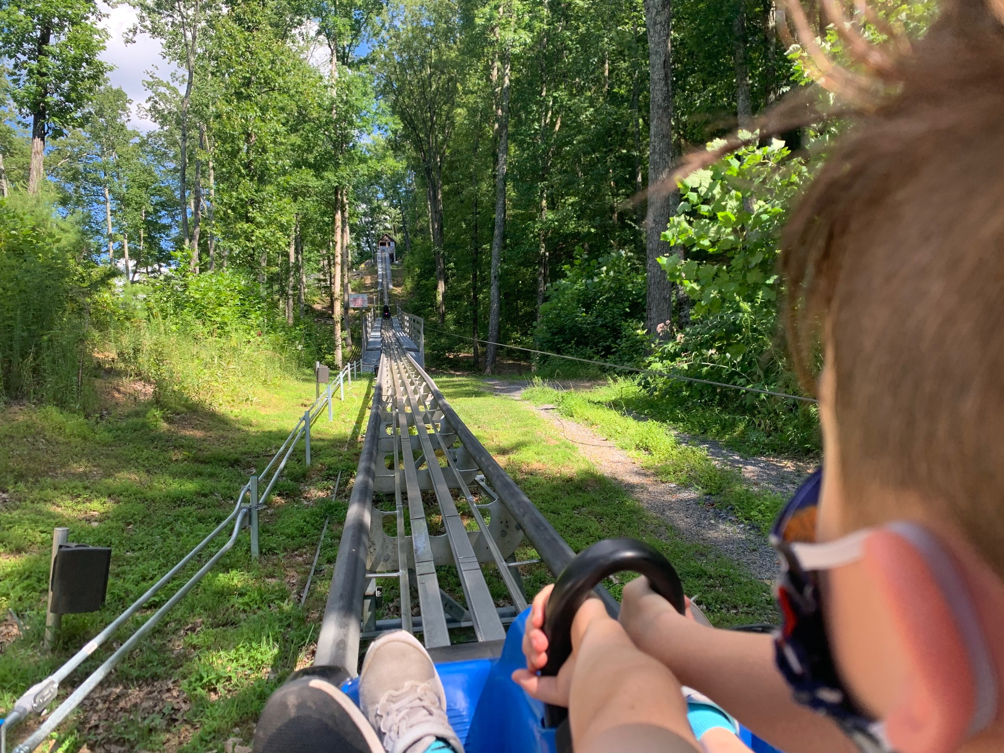Coaster at Goats on the Roof mountain coaster Timothy